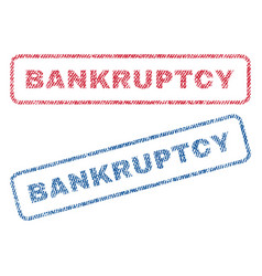 Bankruptcy textile stamps vector