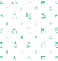 Bell icons pattern seamless white background vector