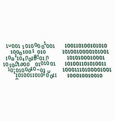 Binary code glitch vector