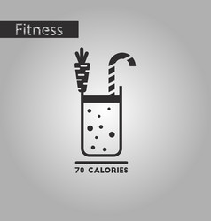 Black and white style icon carrot smoothies vector