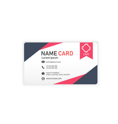 black red business abstract name card image vector image