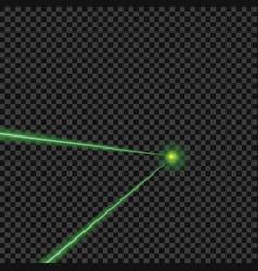 bright green laser beams vector image