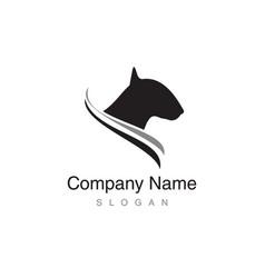 Bull terrier logo vector