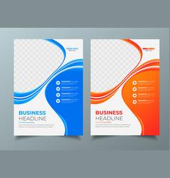 Business flyer design template report leaflets vector