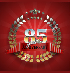 Celebrative Golden Frame for 85th Anniversary vector