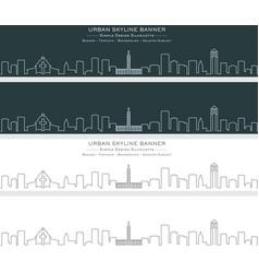 charlotte single line skyline banner vector image