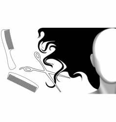 Clip curls hair comb vector