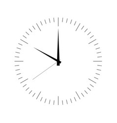 Clock face blank hour dial with hour minute and vector