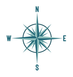 compass wind rose design vector image