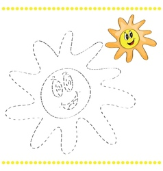 Connect the dots and coloring page vector