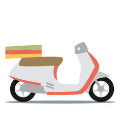 Creative flat design scooter icon vector