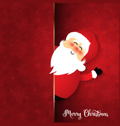 Cute santa on snowflake background vector