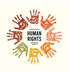 December is human rights awareness month vector