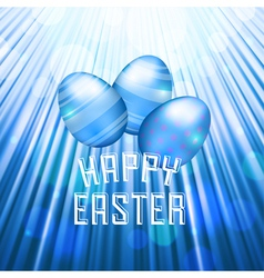 easter background rays blue vector image