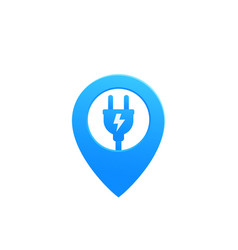 Electric plug with pin icon vector