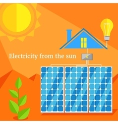 Electricity From Sun Design Flat vector image