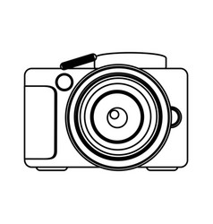 Figure technology professional camera icon vector