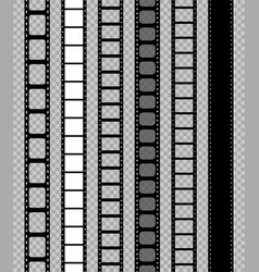 film strip for movie camera feel with filmstrip vector image