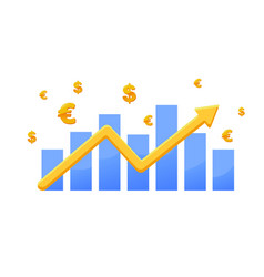 financial graph forex and stock markets vector image