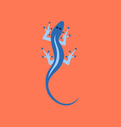 Flat icon on background lizard reptile vector