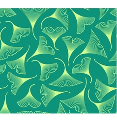 Ginkgo biloba leaves seamless pattern vector