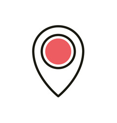 gps pointer navigation social media icon line and vector image