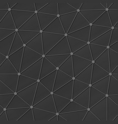 grey triangle seamless pattern vector image