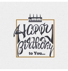 Happy birthday - card sticker can be used to vector