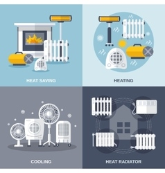 Heating And Cooling Flat vector image