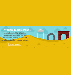 historical fossils arches banner horizontal vector image