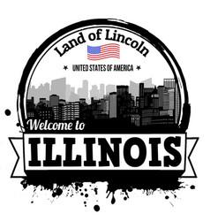 Illinois stamp vector