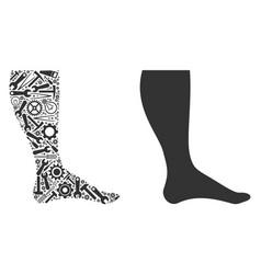 Leg collage of repair tools vector