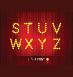 Light font3 vector