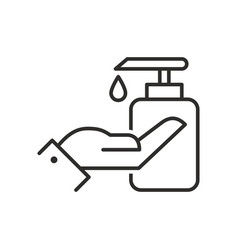 Liquid soap icon icon isolated on white background vector