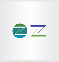 logo letter z icon green blue sign vector image
