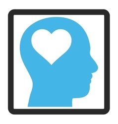 Lover Head Framed Icon vector
