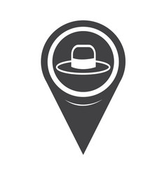 Map pointer hat icon vector