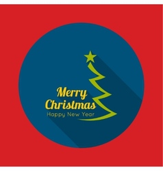 Merry Christmas Happy new year vector image