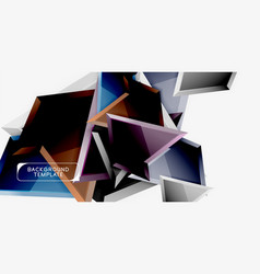 minimal geometrical triangles with 3d effect vector image