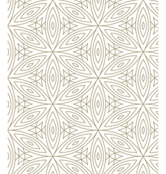 Minimalistic repeating linear flower pattern on vector