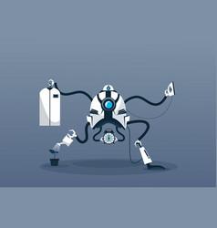Modern robot housekeeping technology artificial vector
