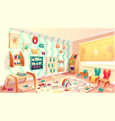 montessori room with rubbish elementary vector image