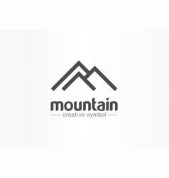 Mountain tourism travel creative symbol concept vector