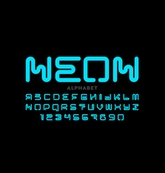 neon style font vector image