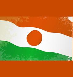 Niger flag grunge vector