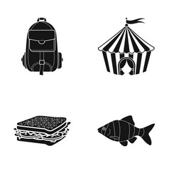 ocean fishing tourism and other web icon in vector image