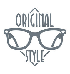 original style logo simple style vector image