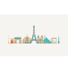 Paris abstract skyline vector