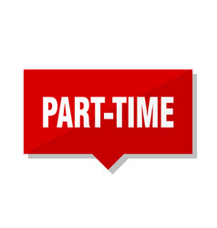 part-time red tag vector image