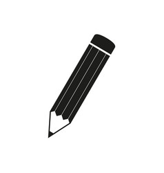 pencil school icon black vector image